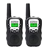 Qianghong T3 Kids Walkie Talkies 3-12 Year Old Children's Outdoor Toys Mini Two Way Radios UHF 462-467 MHz Frequency 22 Channels - 1 Pair