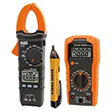 Klein Tools 3-Piece Meter and Tester Kit, Features Manual-Ranging Digital Multi-meter, Auto-Ranging Digital Clamp Meter, Non-Contact Voltage Tester, Carrying Case, Test Leads and 7 AAA Batteries
