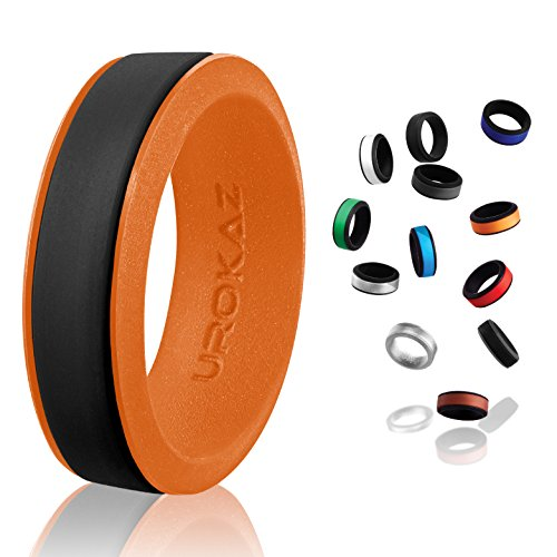 UROKAZ thermos silicone ring replacement women women's rings womens wedding qalo qualo sets for fake black diamond rubber stackable band (Pressure Set Diamond)