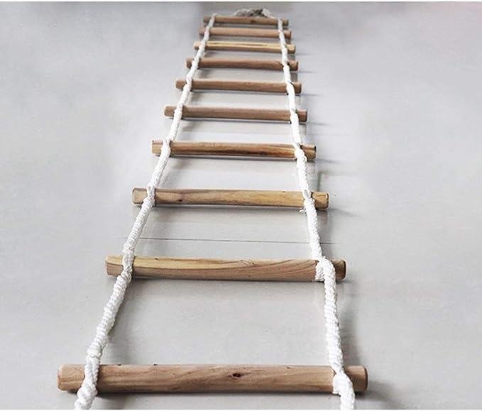 HXPP Escalera De Cuerda Rescate Escalera De Incendios Portátil Escaleras Cuerda Uso Salida Balcón Asegúrese Que Niños Y Adultos Puedan Descender Forma Segura (Size : 25m): Amazon.es: Hogar