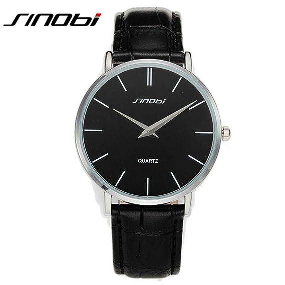 HWCOO Hermoso Relojes de Pulsera Reloj de Cuarzo de los Hombres de SINOBI / 9140 Reloj de los Hombres de la Moda Japonesa del Movimiento (Color : 1): ...