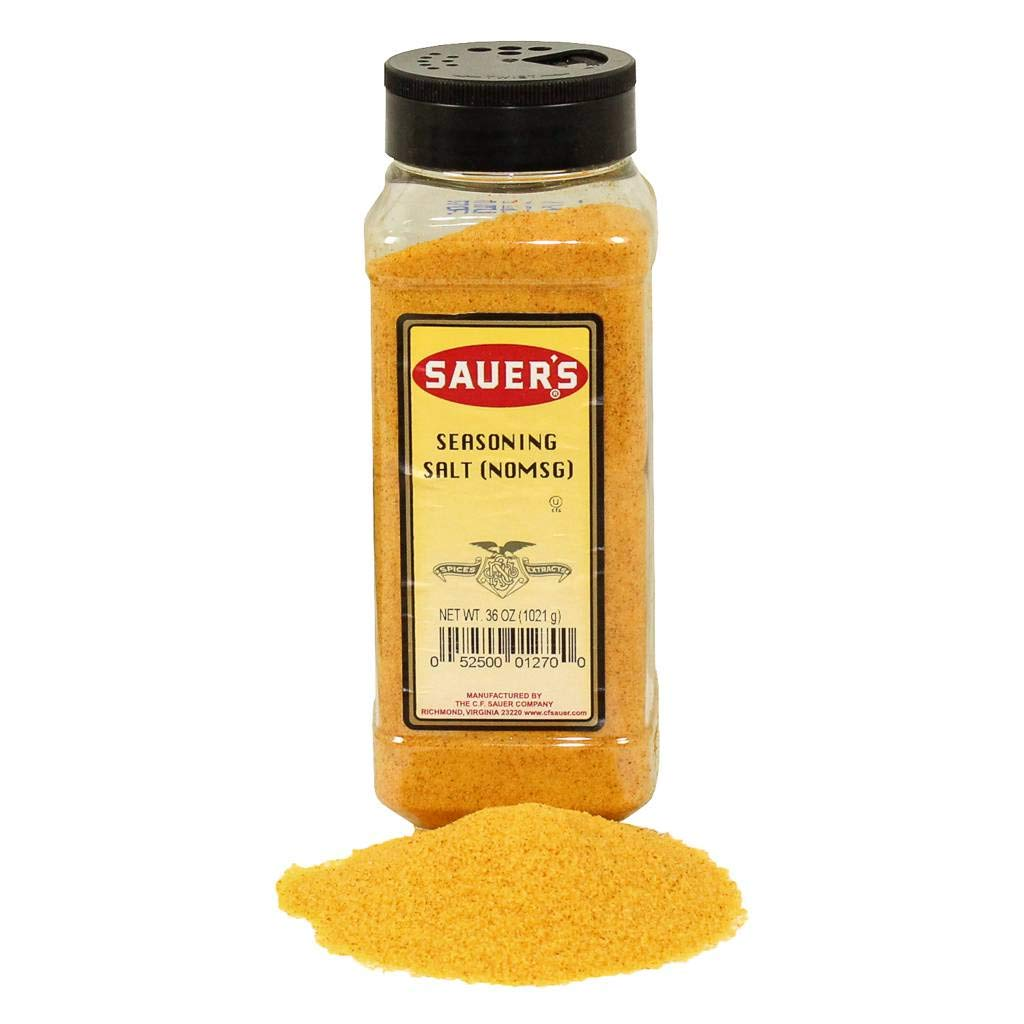 C.F. Sauer Foods Seasoning Salt, 36 Ounce -- 6 per case.
