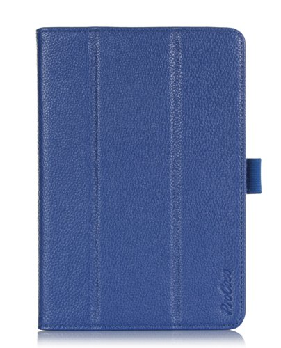 ProCase Folio Stand Case for Acer Iconia A1-830 Tablet Case - Tri-Fold Slim Book Cover for Acer Iconia A1-830 Android Tablet (2014 released), Corner Protected, with Stand, Hand Strap, bonus stylus pen included (Navy, Dark Blue) (Acer A1 Keyboard Case)