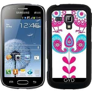 Funda para Samsung Galaxy S Duos S7562 - Pájaros Bonitos De Encaje De La Vendimia by Blingiton
