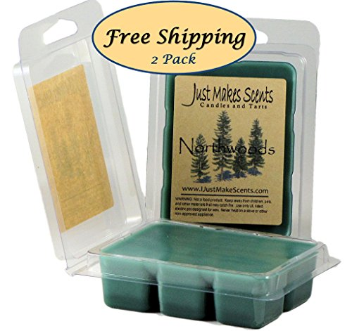 2 Pack - Northwoods Christmas Wax Melts | Fresh Wintery Balsam Pine & Light Spiced Cranberry | Hand Poured in the USA by Just Makes Scents