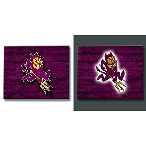 Team Sports America Arizona State Sun Devils LED Metal Wall Art ()
