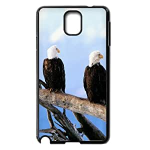 Samsung Galaxy Note 3 Case Wild and Free Bald Eagles, Flying Eagle Kweet, {Black}