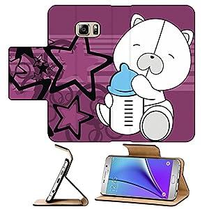 Liili Premium Samsung Galaxy Note 5 Flip Pu Leather Wallet Case Note5 IMAGE ID: 10569687 polar teddy bear baby cartoon background in vector format
