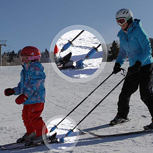 Pads Learn (Launch Pad Hookease Ski Trainer - Teaches Proper Form and Speed Control - Universal Fit - Perfect for Beginners)