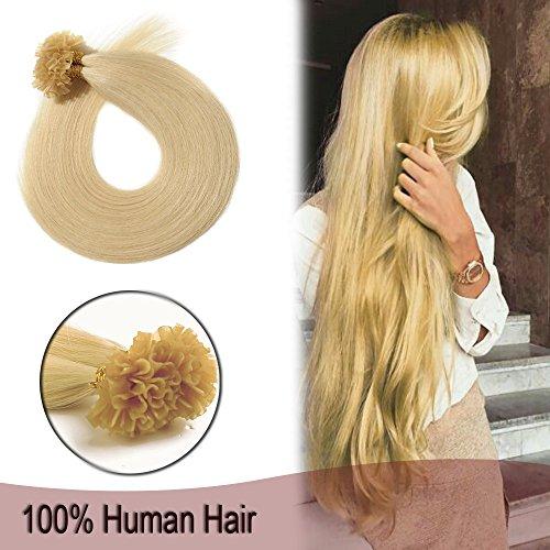 Silky Fusion - Remy Nail U Tip Pre Bonded Hair Extensions Human Hair 100 Strands Keratin Fusion Hair 20