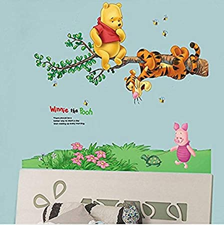 zuolanyo Ulan Winnie the Pooh modello adesivi da parete camera da letto per bambini decalcomanie della parete soggiorno finestra vetro decorativo Stickers Room Decor Wall Sticker