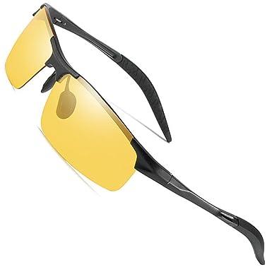 72ac16fd3a5 MOTELAN Night Driving Photochromic Polarized Glasses for Men Women Anti  Glare Safety UV400 HD Vision Sunglasses