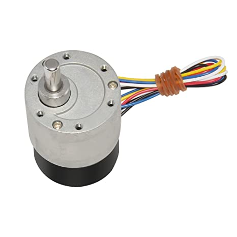 Aobbmok BLDC Electric Geared Brushless DC Motor 12V 1000RPM CW/CCW Dia 37mm