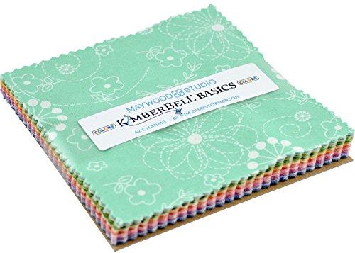 (KimberBell Basics Colors Charm Pack 42 5-inch Squares Maywood Studio)