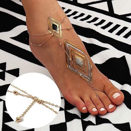 Sexy Kalaokei Femmes Plage Bijoux Perle Pied Argent Anklet Bracelet Sandale Cheville Multi couche Toe ffw5Rrq