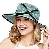 Womens Fascinators Linen Fedora Large Wide Brim Kentucky Derby Beach Sun Hat