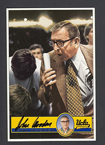 John Wooden Autographed Signed Ucla Bruins Issued Postcard Photo Memorabilia JSA Auction Coa from Sports Collectibles Online