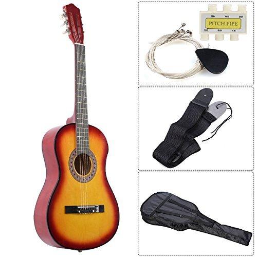 Set of Acoustic Guitar Bridge Pins Saddle Nut Yellow - 9