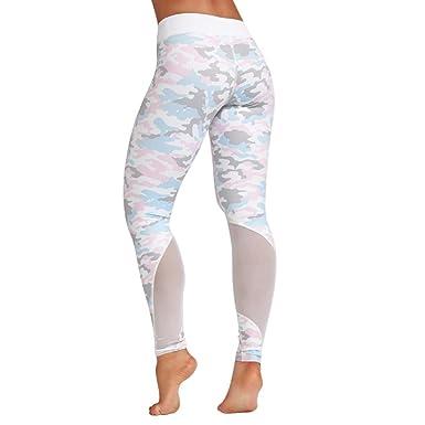 Mujer Costura acoplamiento yoga pantalones deportivos ...