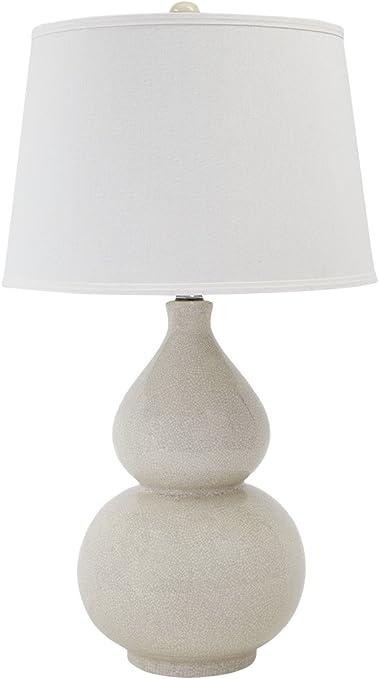 Amazon Com Signature Design By Ashley Saffi Ceramic Table Lamp Double Gourd Base Cream Home Kitchen