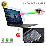 "Anti Blue Light Screen Protector for Dell XPS 15 9575 15.6"" Laptop Screen Filter with Keyboard Cover for 15.6 Inch Dell XPS 15 9575 2 in 1 Laptop Anti Scratch Glare Light Blocking Cover Eye Protection"