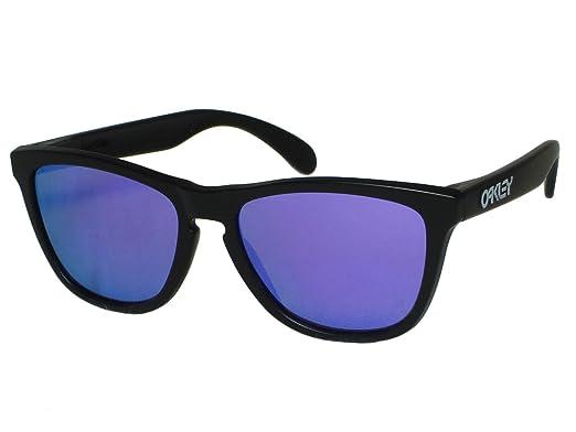 Amazon.com: Oakley Frogskins oo24 – 298 mate negro/violeta ...