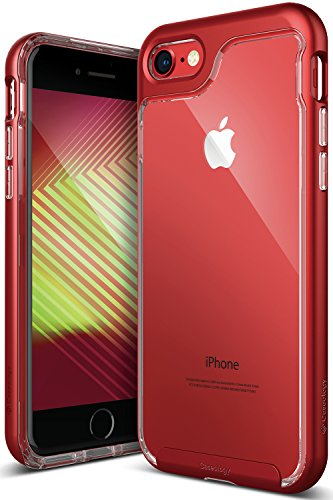 (Caseology Skyfall Series iPhone 8/7 Cover Case with Clear Slim Protective for Apple iPhone 7 (2016)/iPhone 8 (2017) - Red)