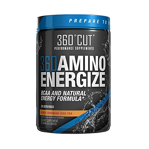 360AMINOENERGIZE Peach Lemonade Iced Tea with Raw Coconut Water Powder, Natural Energy Boost, Builds Muscle, Maintains Hydration, Tastes Great!