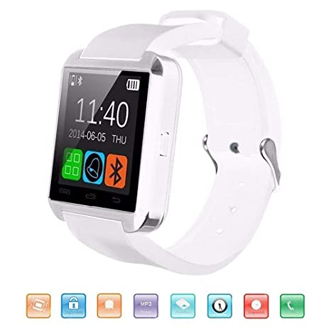 Amazon.com: MDMMBB Bluetooth Smart Watch, KeepGoo U8 ...