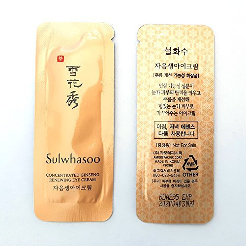 Sulwhasoo Concentrated Ginseng Renewing Eye Cream 1ml x 100pcs (100ml) Sample AMORE PACIFIC