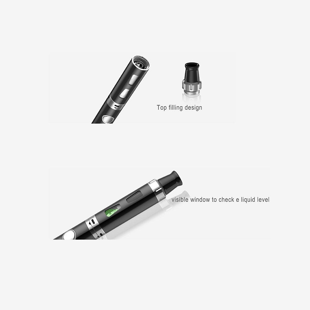 Cigarrillo electrónico Brurkim kit de iniciación, batería recargable de 1300mAh, Vaporizador de 1.5ml + 4 x 10ml set E-Líquido, 0,00 mg Nicotina: Amazon.es: ...