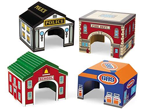 Lakeshore Block Play Garages - Set of 4 (Pretend Play Garage)
