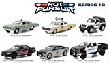 Hot Pursuit Series 18, 6pc Diecast Car Set 1/64 by Greenlight 42750