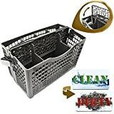 cutlery basket for dishwasher - Dishwasher Silverware Replacement Basket Universal - Clean Dirty Magnet Sign - Utensil/Cutlery Holder - Fits Bosch, Maytag, Kenmore, Whirpool, KitchenAid, LG, Samsung, Frigidaire, GE