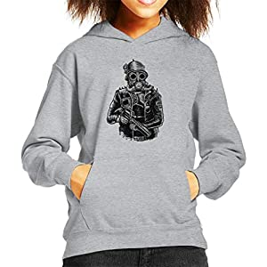 Steampunk Soldier Kid's Hooded Sweatshirt