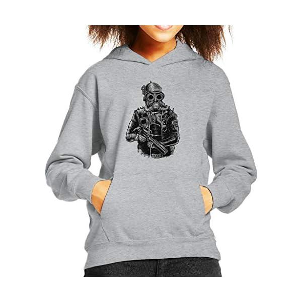 Steampunk Soldier Kid's Hooded Sweatshirt 3