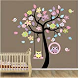 Home Art Decor Colorful Tree Decals with Hanging - Best Reviews Guide