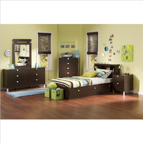 Incroyable Amazon.com   South Shore Cakao Kids Twin 4 Piece Bedroom Set With Bookcase  Headboard In Chocolate   Bedroom Furniture Sets