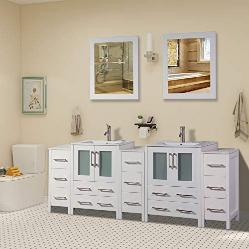 Vanity Art 84 inch Double Sink Bathroom Vanity Combo Set 3 Side -