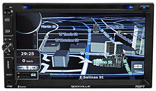 Rockville RGP7 7 Inches 2 Din Car Navigation/DVD/iPhone/Pandora/Bluetooth/USB Receiver