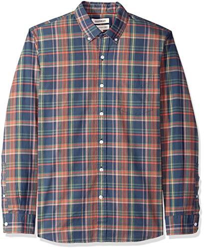 Goodthreads Men's Standard-Fit Long-Sleeve Plaid Oxford Shirt