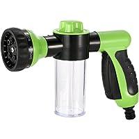 KKmoon Multifunctionele autowasmachine, sproeikop met schuimgenerator, opzetstuk voor tuinslangen, tuinirrigatie…