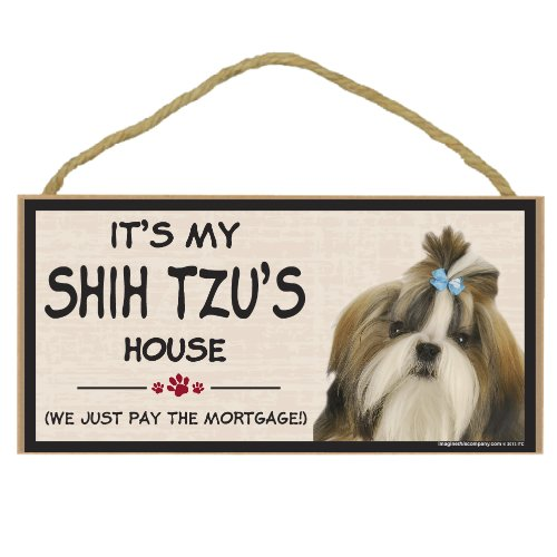Imagine This Wood Breed Decorative Mortgage Sign, Shih Tzu