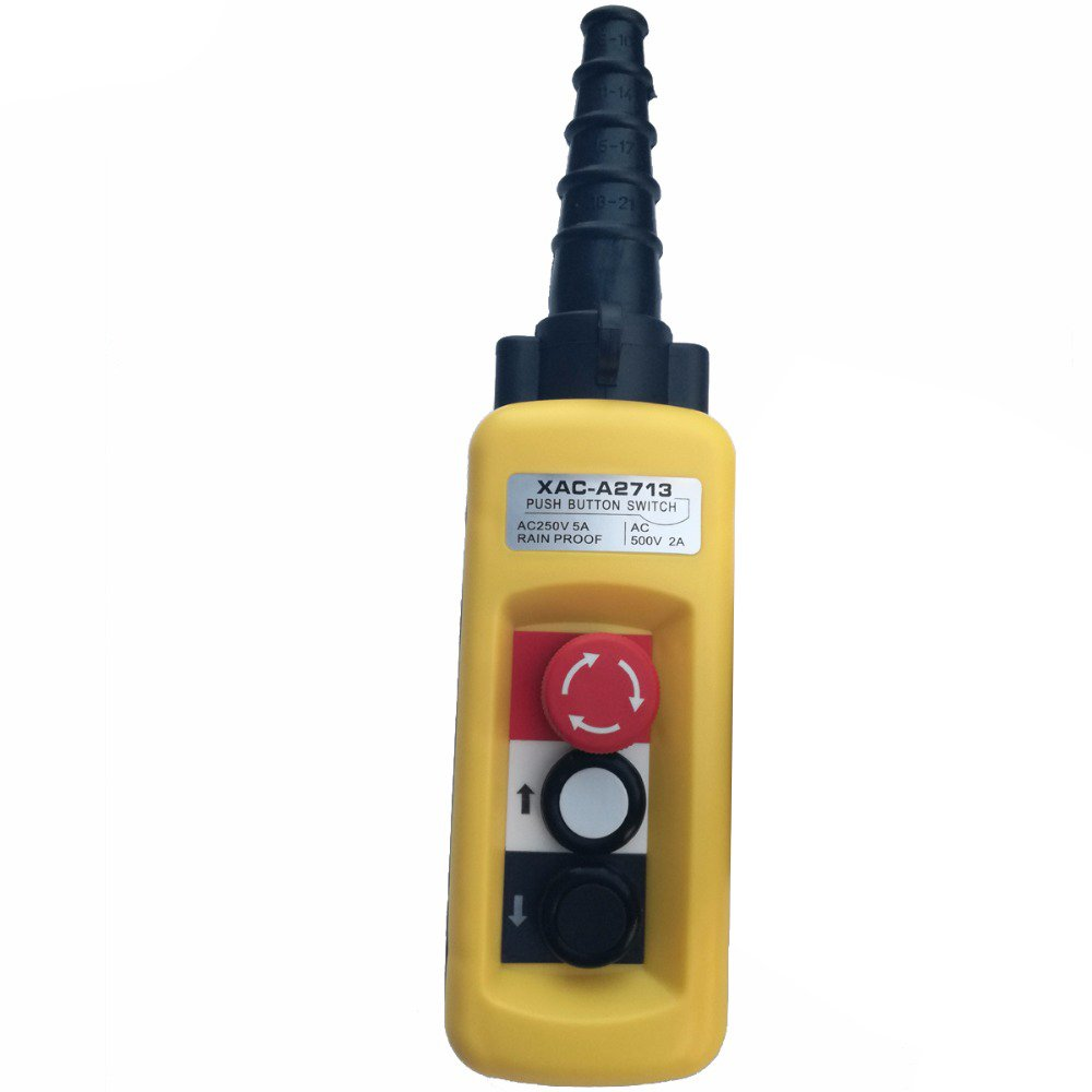 XAC-A2713 250V 5A IP65 Rainproof Crane Pendant Control Station Push Button Pushbutton Switches Emergency Stop Switch