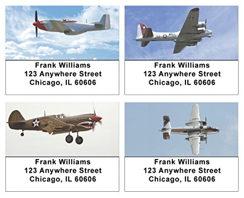 Air Force Classic Planes Address Labels