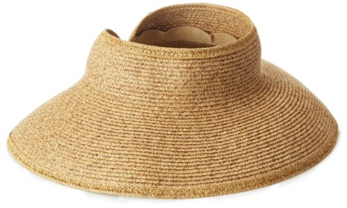 San Diego Hat UPF 50+ Wide Brim Roll-up Sun Visor Hat (Coffee)