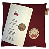 Old World Style Cherry Pit Pillow in Henna Red - For Neck, Muscle Pain - Soft 100% Cotton - Microwavable - Cherry Stone Heat Pack - Heat Pad - Unique Gift - Made in USA