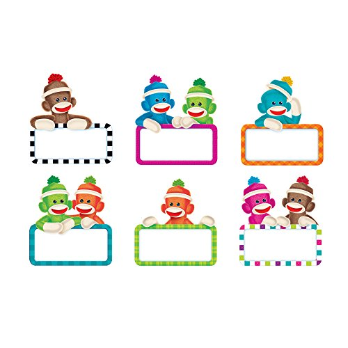 Sock Monkey Invitations (TREND enterprises, Inc. Sock Monkeys Signs Classic Accents Variety Pack, 36)