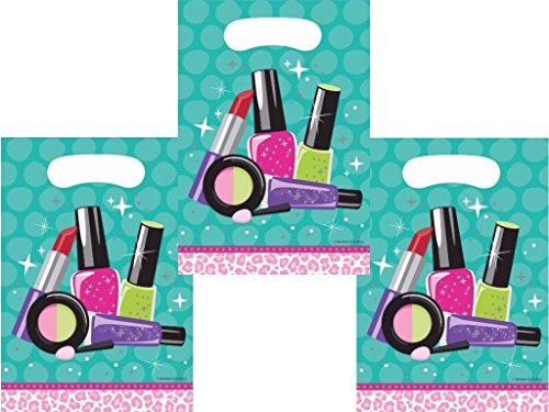 Creative Converting.,, Girls Birthday Spa Makeup Party Supplies Favor Bags 24 Guests (Bag Spa Favor)