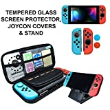 Starter Kit, Stand, Glass Screen Protector, JoyCon Covers, 20 Game Holder | Protective Travel Carry Shell Pouch Review